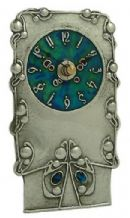 Archibald Knox No' 15 Enamelled Pewter Clock